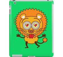 Brave lion feeling wildly in love iPad Case/Skin