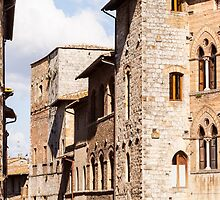 Windows of San Gimignano by Julian Elliott