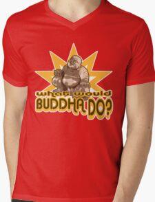 Buddha t-shirt Mens V-Neck T-Shirt