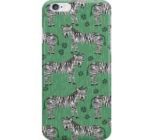 Safari Zebra Pattern by Andrea Lauren iPhone Case/Skin