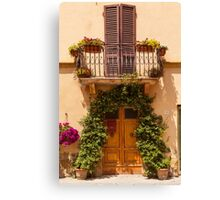 Doorway to Pienza Canvas Print