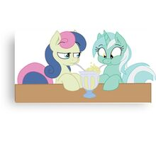 Lyra and Bon Bon Canvas Print