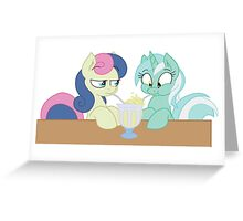Lyra and Bon Bon Greeting Card