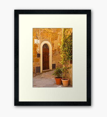Pienza Doorway Framed Print