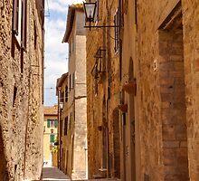 Streets of Pienza by Julian Elliott