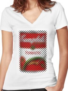 Tomato Soup Updated Women's Fitted V-Neck T-Shirt