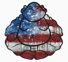 Buddha American Flag by Jason Levin