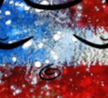 Buddha American Flag Sticker