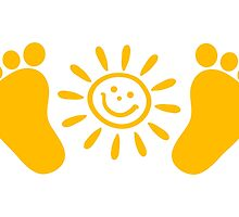 Baby feet with sun by boom-art