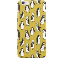 Penguins - Mustard by Andrea Lauren iPhone Case/Skin