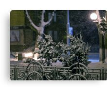 Winter Bench 4 Canvas Print
