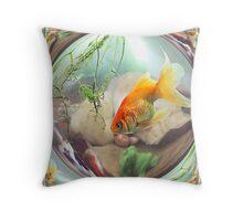 Fantail Goldfish Throw Pillow