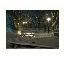 Winter Bench 5 Art Print