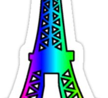 Eiffel Tower Rainbow Sticker