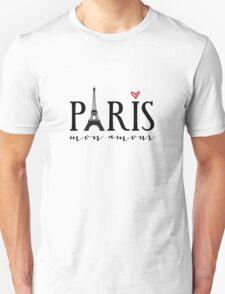 Paris mon amour Unisex T-Shirt
