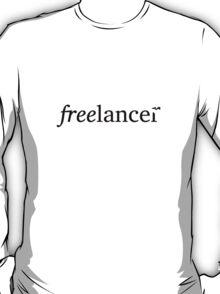freelancer, word art with flying bird T-Shirt