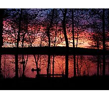 Fishing in Michigan Photographic Print