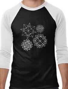 Papercut star pattern 1 Men's Baseball ¾ T-Shirt