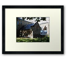 Be a Rebel- Come to Church Framed Print