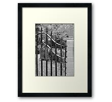 Don't take offence - it's a gate! Framed Print