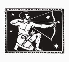 Sagitarrius the Archer woodcut by Pixelchicken