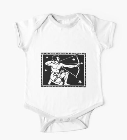 Sagitarrius the Archer woodcut One Piece - Short Sleeve