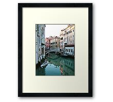The Leaning Boat Framed Print