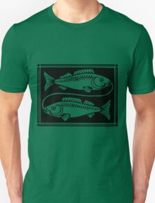 Pisces the Fish woodcut T-Shirt