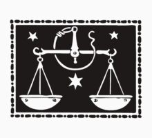 Libra Scales woodcut One Piece - Long Sleeve
