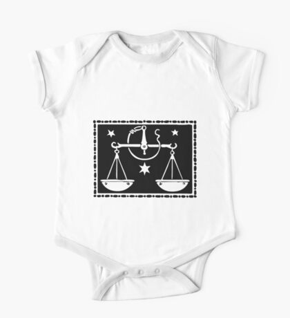 Libra Scales woodcut One Piece - Short Sleeve