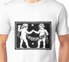 Gemini the Twins Woodcut Unisex T-Shirt