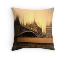 Edinburgh's Burning Throw Pillow