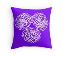 Papercut flower Throw Pillow