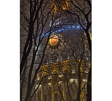 Water Tower At Night 1 Photographic Print