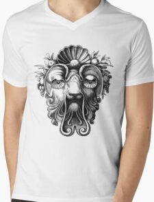Renaissance Grotesque Face Seashell Man No. 3 Mens V-Neck T-Shirt