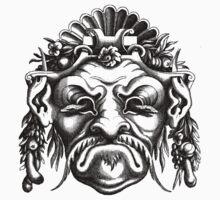 Renaissance Grotesque Face Seashell Man No. 2 Kids Clothes