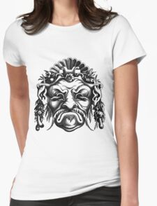 Renaissance Grotesque Face Seashell Man No. 2 Womens Fitted T-Shirt