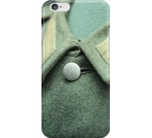 button on a soldier's uniform iPhone Case/Skin