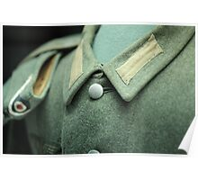 button on a soldier's uniform Poster