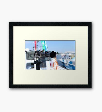 barrel heavy machine gun Framed Print