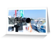 barrel heavy machine gun Greeting Card