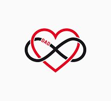 Dad, red heart with infinity sign, father's day card, sticker Womens Fitted T-Shirt