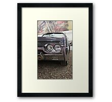 American retro car fragment Framed Print