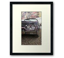 American retro car fragment Framed Print