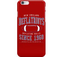 Deflate Gate - The New England Deflatriots iPhone Case/Skin