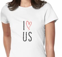 I love us with red heart Womens Fitted T-Shirt