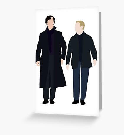Sherlock and John Greeting Card