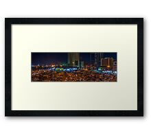 CITY PANORAMA Framed Print