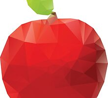Geometric Red Apple by AnnArtshock