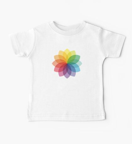 Abstract colorful flower design Baby Tee